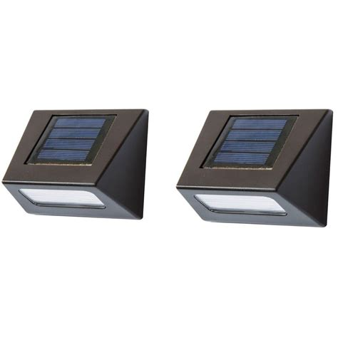 Deck Impressions Solar Powered Brown Downcast Deck Light Solar Powered Lights Home Depot