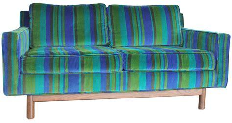 Blue Green Sofa Vintage Mid Century Blue Green Velvet Sofa Chairish