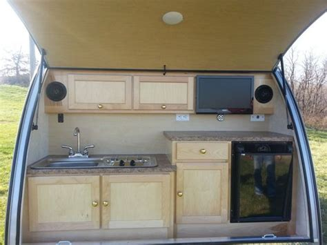 teardrop trailers hitch a tiny kitchen to your car the kitchn teardrop cer kitchens the small trailer enthusiast