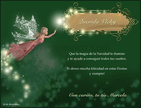 feliz navidad con mensaje y hada para imprimir en www correomagico com