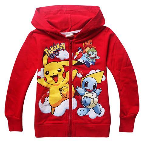 Hoodie Go Pikachu Mistykingkonveksi new pikachu go coats cotton hoodies jacket for children clothing for