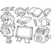 Con Los Utiles Escolares Colouring Pages