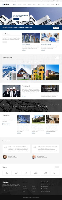 wordpress themes builder free builder premium responsive construction company