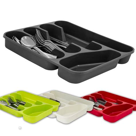 knife storage drawer insert uk 5 compartment cutlery tray organiser tidy holder storage