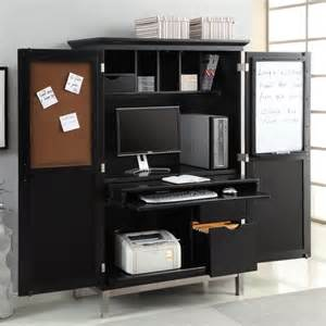 Black Computer Armoire Apartments Modern Home Office Design With Black Computer