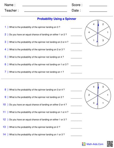 probability year 8 worksheets probability lesson powerpoint worksheets by