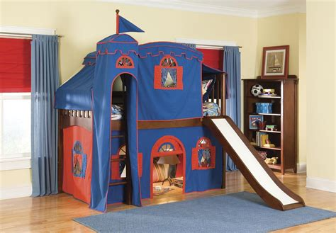 slide beds childrens bunk beds with slide interior decorating