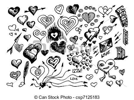 imagenes de corazones dibujados a mano vectores de s 237 mbolos dibujado mano corazones mano