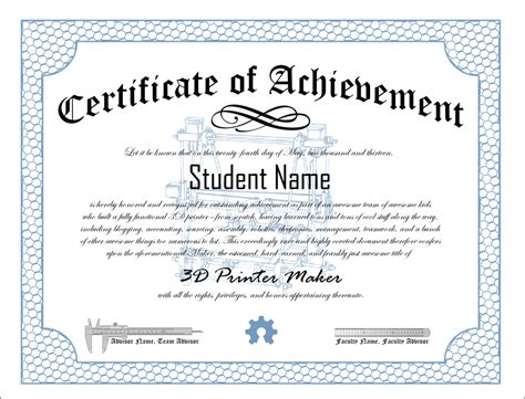 free printable certificate of achievement template 10 certificates of achievement certificate templates