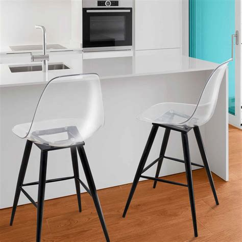 Chaise De Bar Transparente by Chaise Haute Style Tabouret De Bar Scandi Ii