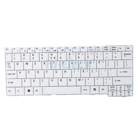 Keyboard Zg5 keyboard for acer aspire one zg5 aezg5r00010 8 9 quot 10 1 quot us layout laptop white ebay