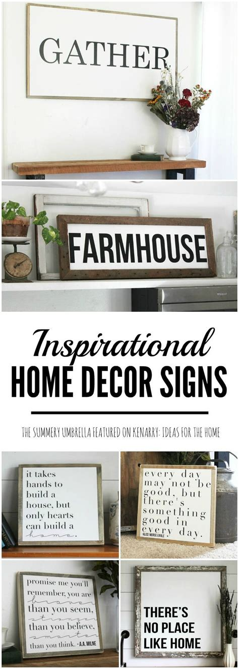 rustic  modern inspirational signs   home