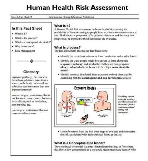 10 Sle Health Risk Assessments Sle Templates Healthcare Risk Assessment Template