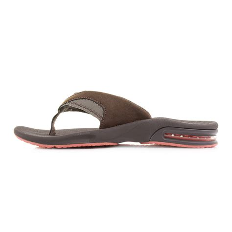 womens reef fanning sandals womens reef fanning brown coral toe post sandals flip