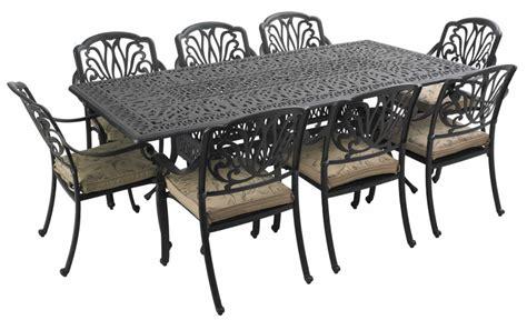 Amalfi Cast Aluminium 8 Seater Rectangular Garden Dining