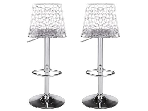 Tabourets De Bar Transparents by Lot De 2 Tabourets De Bar Clark Polycarbonate Cristal