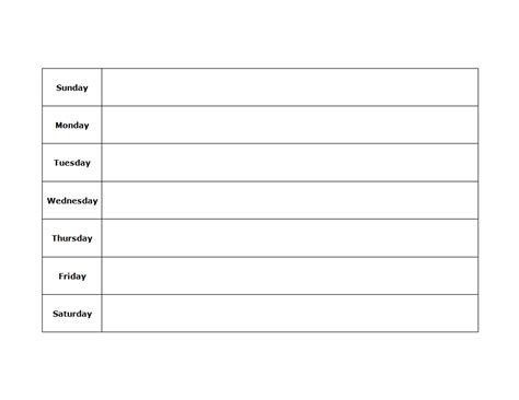 www printable blank weekly schedule best quality loving printable