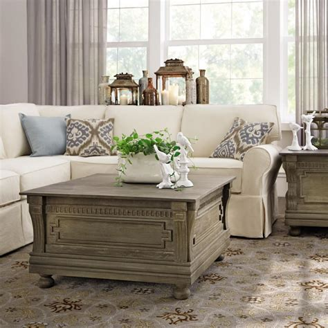 home decorators coffee table home decorators collection parker washed grey built in
