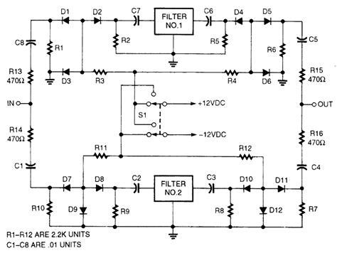 diode switching circuits pin diode filter selection circuit digital circuit basic circuit circuit diagram seekic