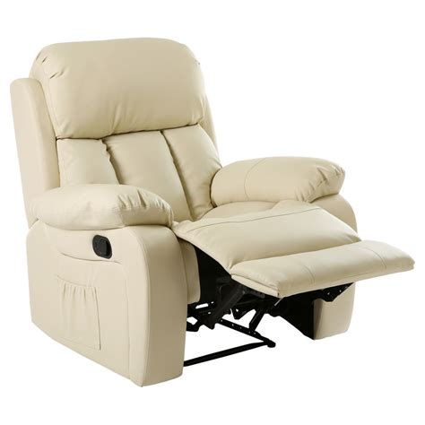 Heated Recliner by Chester Heated Leather Recliner Chair Sofa Lounge Gaming Home Armchair Ebay