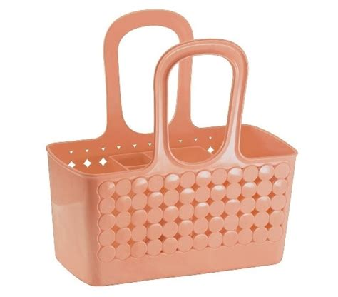 bathroom tote divided bath shower tote coral