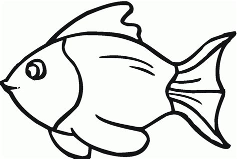 Fish Coloring Template fish template cut out coloring home