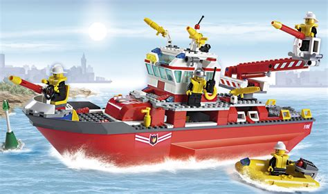 boat city lego city 7207 fire boat i brick city