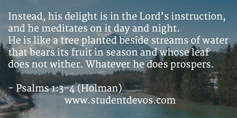 Marriage Bible Verse Of The Day by Daily Bible Verse And Devotion Psalm 1 3 4 Student