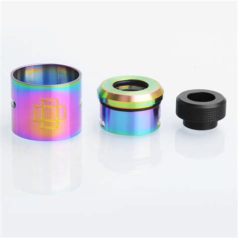 Rda Druga Best Clone Rainbow authentic augvape druga rda rainbow ss top cap kit w drip tip