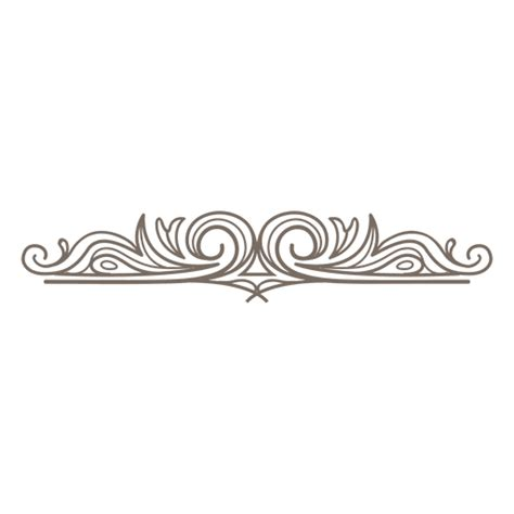 decorative swirls divider transparent png svg vector file