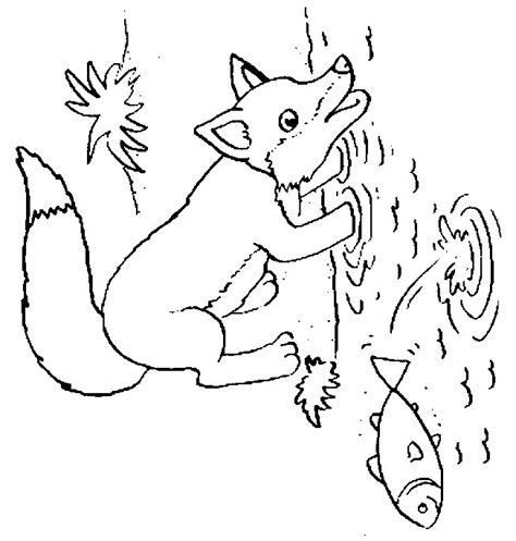 free coloring pages of baby fox