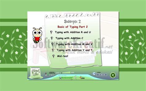 Tutorial Bahasa Inggris Untuk Anak Sd | bamboomedia cd tutorial interaktif typing is fun
