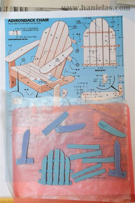 adirondack chair template diy fondant adirondack chair template plans free