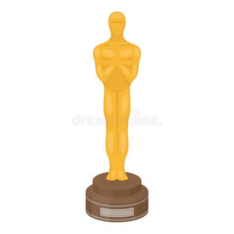 film oscar cartoon academy award icon in cartoon style isolated on white