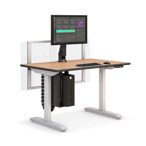 Computer Desk Adjustable Height Height Adjustable Computer Desk With Partition Afcindustries