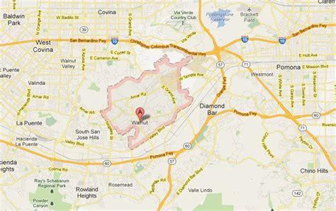 walnut california map walnut senior living local attractions and map of walnut