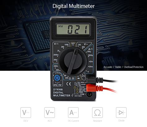 Multimeter Digital Dt830b dropship whdz dt830b digital multimeter ac dc tester
