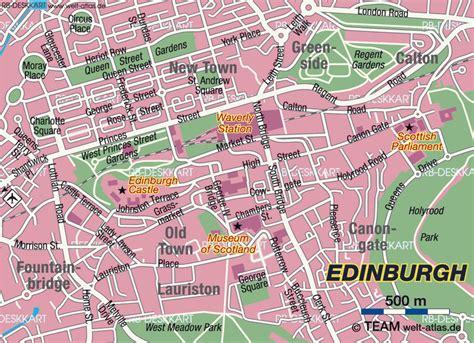 map of edinburgh scotland map of edinburgh city in united kingdom scotland welt
