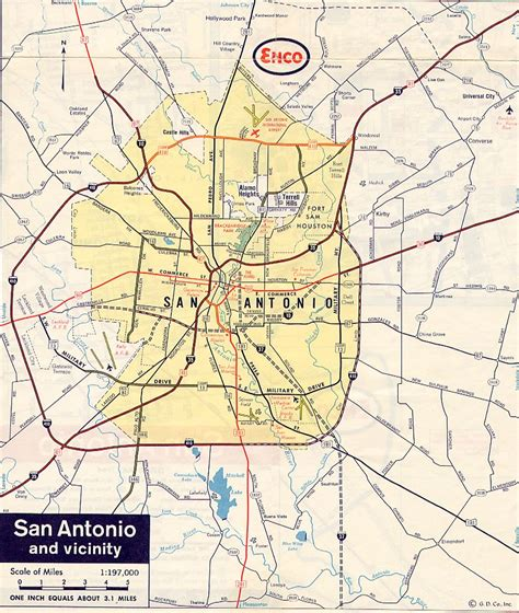 san antonio texas on the map texasfreeway gt san antonio gt historical information gt road maps