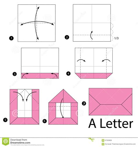How To Fold A Paper Into A Letter - step by step how to make origami a letter