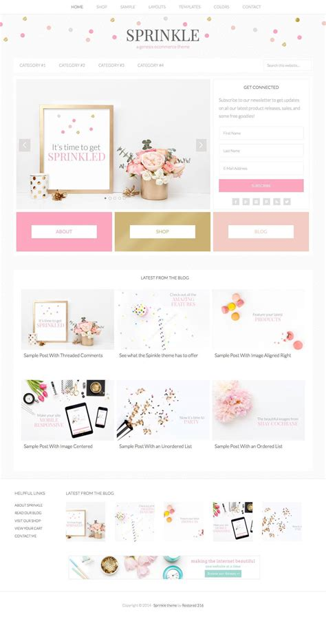 free wordpress themes girly sprinkle girly blog wordpress theme wpexplorer