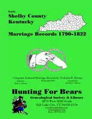 Shelby County Marriage Records Shelby County Open Library