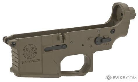 flat earth color krytac trident mkii complete lower receiver assembly
