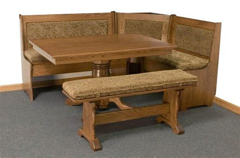 Kitchen Breakfast Nook Furniture Traditional Corner Breakfast Nook Set From Dutchcrafters Amish