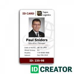 Employee Id Badge Template Free by Professional Employee Id Card From Idcreator