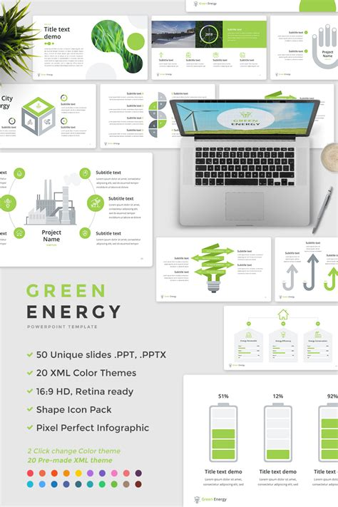 Green Energy Powerpoint Template 65675 Powerpoint Make Template