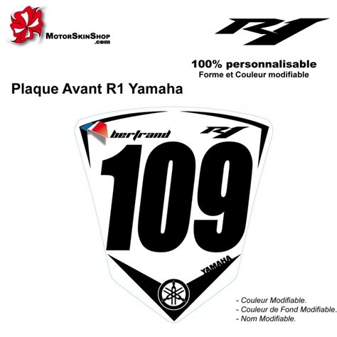 sticker plaque r1 yamaha sportive