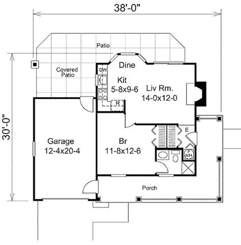 480 square feet cottage style house plan 1 beds 1 baths 480 sq ft plan