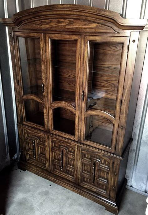 american of martinsville china cabinet 2 piece vtg quality american of martinsville china curio