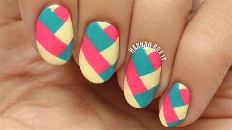 easy nail art making easy braided nail art using diy polish decals youtube